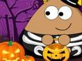Pou, faul an Halloween