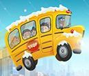 Winter School Bus Parking